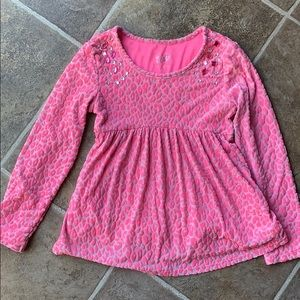 Justice girls size 7 pink shirt